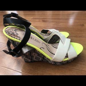 Sam & Libby Target Wedge Sandals NWOT Size 8